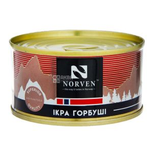 Norven, Икра лососевая горбуша, 120 г
