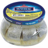Santa Bremor, Herring fillet in oil Matias with onions, slices, 260 g