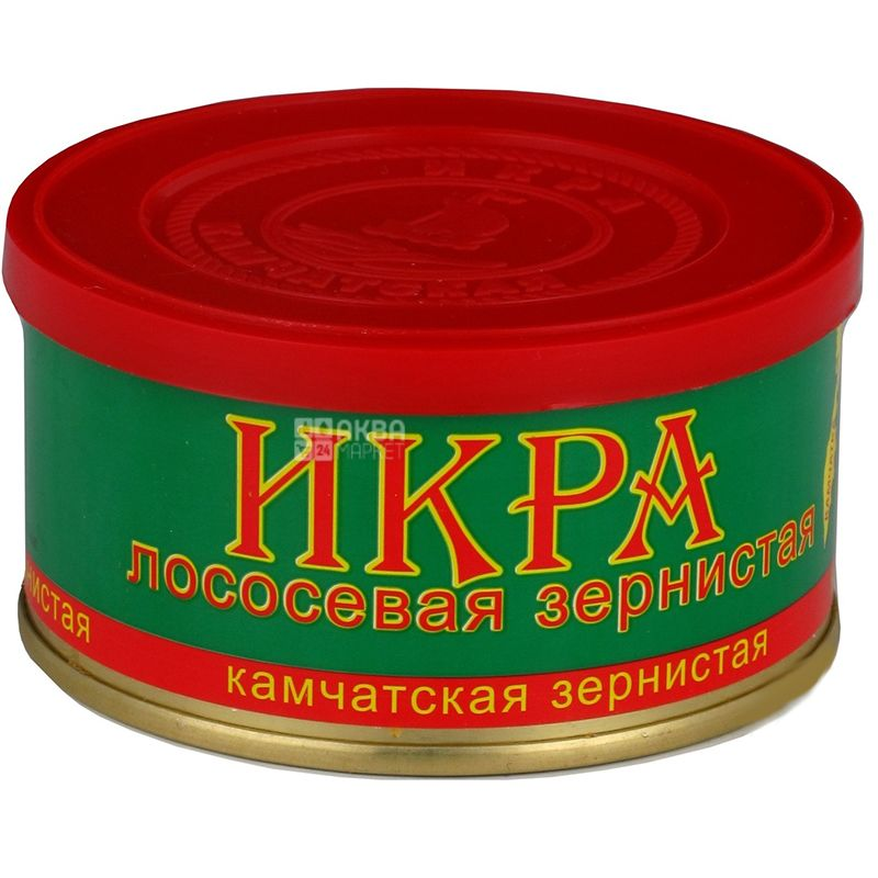 Fish product, Kamchatka salmon caviar, 130 g