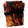 Skewer case with drawstring, polyester, black, 10-12 skewers