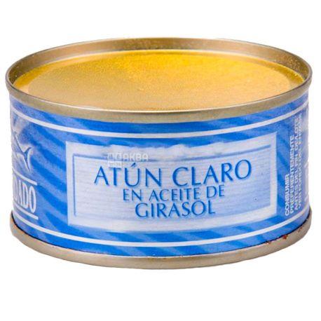 Hacendado, Tuna in sunflower oil, 80 g