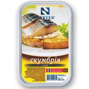 Norven, Mackerel in oil, 180 g