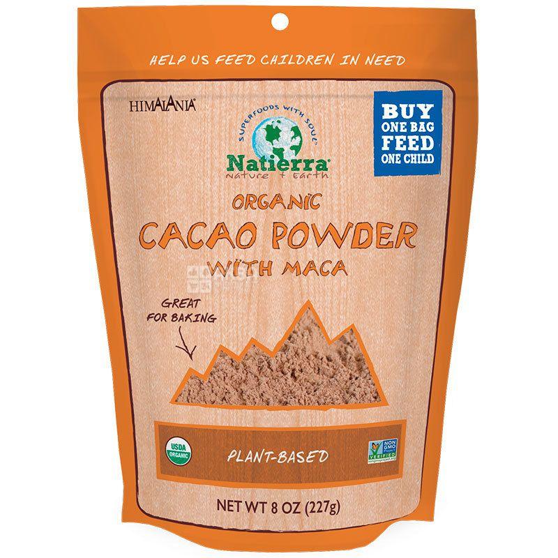 Natierra, Cacao Powder, 227 г, Натиерра, Какао-порошок органический, без сахара и глютена