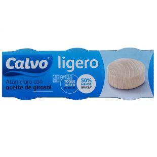Calvo Ligero, Тунец в растительном масле, 56 г x 3 шт.