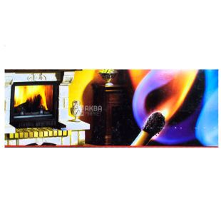 Matches for a fireplace, 150 mm, 25 pieces, 1 box