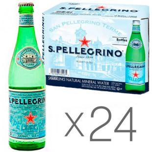 San Pellegrino, 0,5 л, Упаковка 24 шт., Сан Пеллегрино, Вода минеральная газированная, стекло