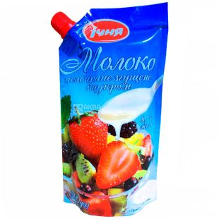 Echnya, Whole condensed milk with sugar, 8.5%, 320 g, doy-pack