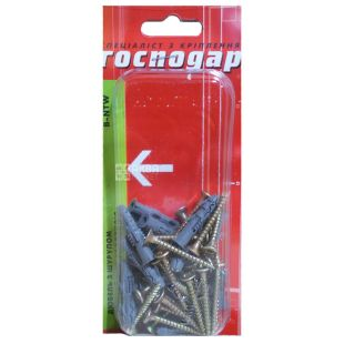 Dowel, Spacing with a screw, B-NTW 6/35, 4x35mm, 25 pcs, TM Gospodar
