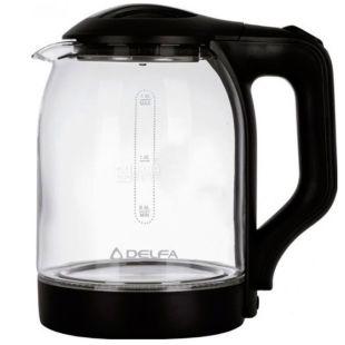 Delfa DK2500, Чайник електричний, скло, 1,8 л