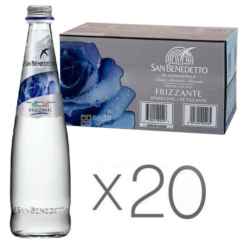 San Benedetto, 0,5 л, Упаковка 20 шт., Сан Бенедетто, Вода газированная, стекло
