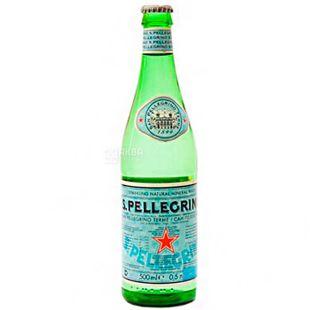 San Pellegrino, Mineral Water, 0.5 L, glass, glass