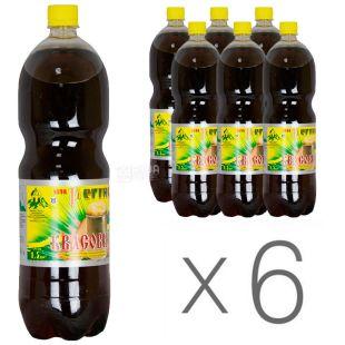 Регіна, Упаковка 6 шт. по 1,5 л, Квасовий напій, ПЕТ