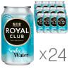 Royal Club, Soda Water, Упаковка 24 шт. по 0,33 л, Роял Клаб, Вода содова, Напій газований, без цукру, ж/б