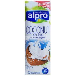 Alpro, Coconut Original, 250 мл, Алпро, Кокосове молоко, без цукру та лактози, оригінальне, з вітамінами