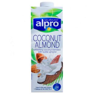 Alpro Coconut and Almond, Молоко миндально-кокосовое, 1 л