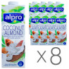 Alpro Coconut and Almond, Almond Coconut Milk, 1 L, pack of 8 pcs.