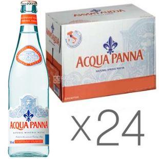 Acqua Panna, 0,5 л, Упаковка 24 шт., Аква Панна, Вода минеральная негазированная, стекло