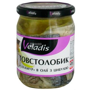 Veladis, Толстолобик в масле с луком, 470 г