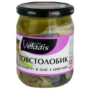 Veladis, Товстолобик в олії з цибулею, 470 г