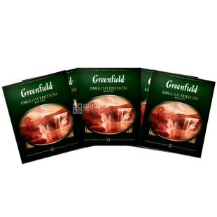 Greenfield, English Edition, 100 pack. x 2 g, Greenfield Tea, English Edition, black, HoReCa