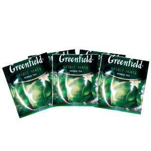 Greenfield, Spirit Mate, 100 пак. x 2 г, Чай Грінфілд, Спіріт Мате, зелений зі смаком лайма, HoReCa
