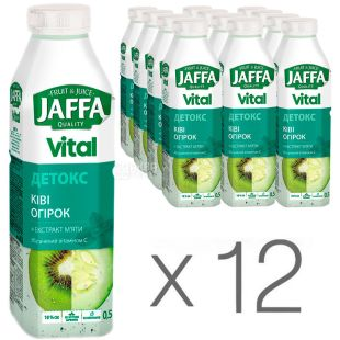Jaffa Vital Detox, Non-carbonated drink, Kiwi-cucumber with mint extract, 0.5 l, pack of 12 pcs.