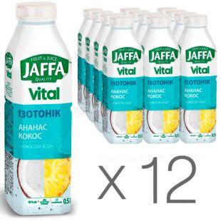 Jaffa Vital Isotonic, 0,5 л, Упаковка 12 шт., Джаффа, Напиток соковый, Ананас-Кокос, с кокосовой водой, ПЭТ