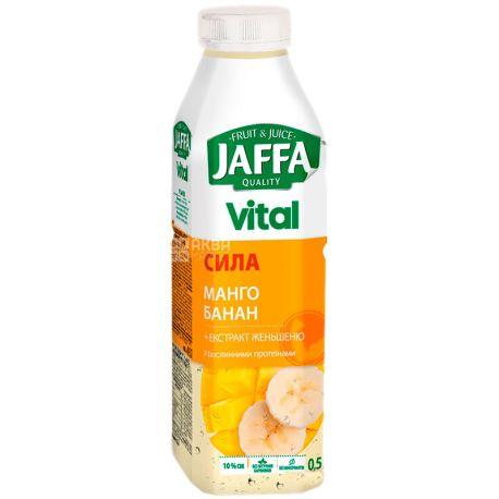Jaffa Vital Power, 0,5 л, Джаффа, Напиток соковый,  Манго-Банан с экстрактом женьшеня, ПЭТ