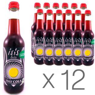 Eos Bio, Isis Cola, Упаковка 12 шт. по 0,33 л, Эос Био, Кола, Вода сладкая, органическая, стекло
