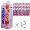На здоровье, Молочный коктейль клубничный 2%, 0,75 л, упаковка 18 шт.