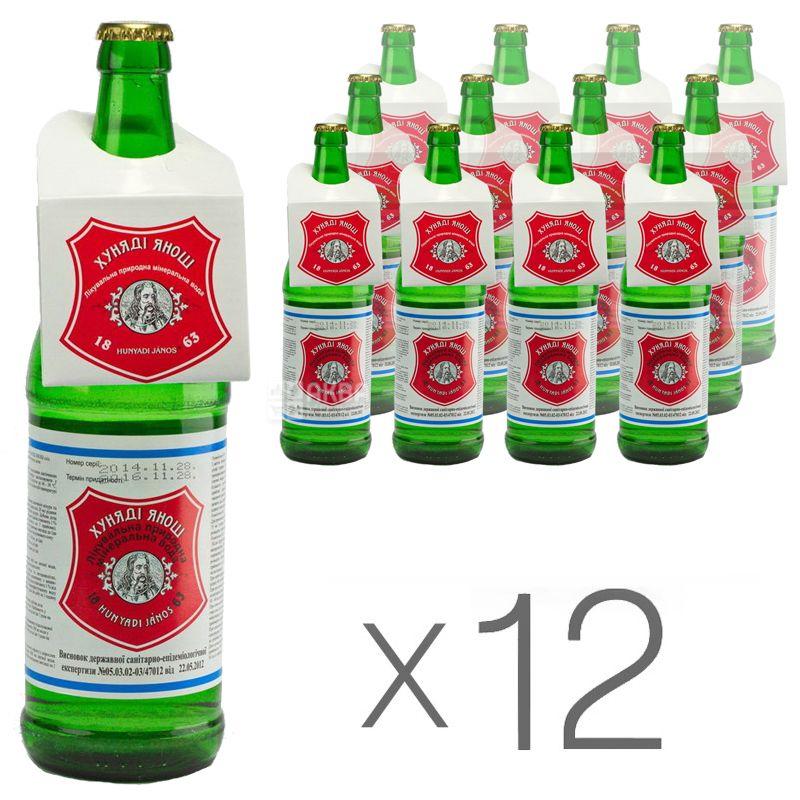 Hunyadi Janos, 0,7 л, упаковка 12 шт., Хуняди Янош, Вода минеральная лечебная, стекло