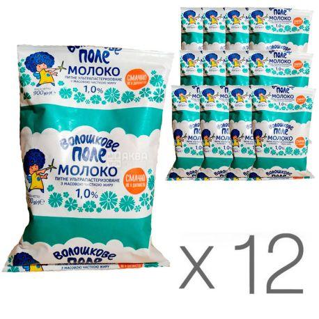 Волошкове поле, Молоко ультрапастеризованное 1%, 900 мл, упаковка 12 шт.