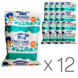 Волошкове поле, Молоко ультрапастеризоване 1%, 900 мл, упаковка 12 шт.