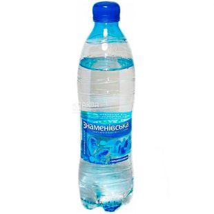 Знаменовская, 0,5 л, Вода минеральная сильногазированная, ПЭТ