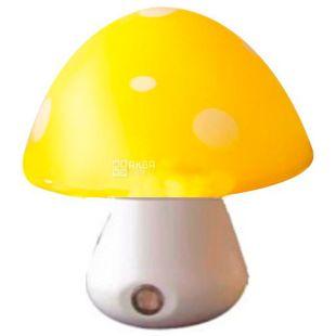 Lemanso NL16, Нічник, Гриб, 3 LED 6500K, з сенсором, жовтий