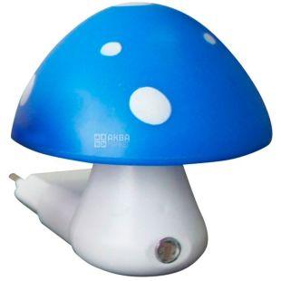 Lemanso NL16, Нічник, Гриб, 3 LED 6500K, з сенсором, синій