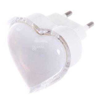 Lemanso NL4, Нічник, Серце, 3 LED, червоний