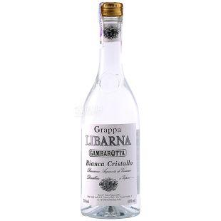 Gambarotta, Граппа, Grappa Libarna Cristallo, 0,7 л
