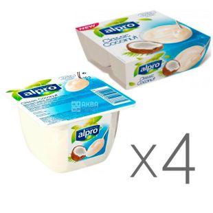 Alpro, Classic Coconut, Упаковка 4 шт. по 125г, Алпро, Десерт Кокосовый, соевый йогурт