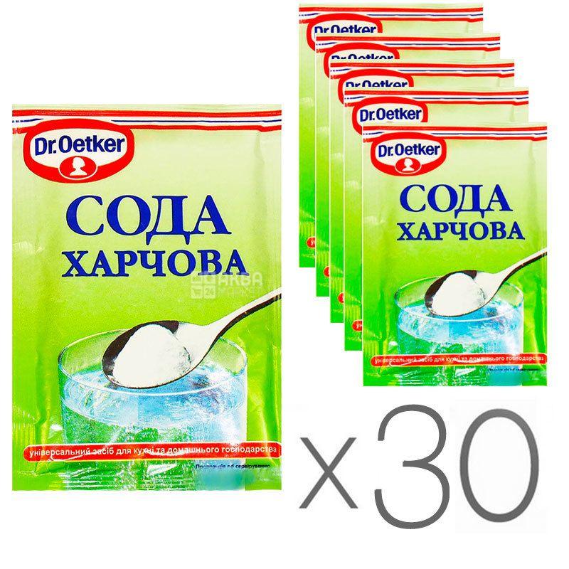 Dr. Oetker, Сода харчова, 50 г, упаковка 30 шт.