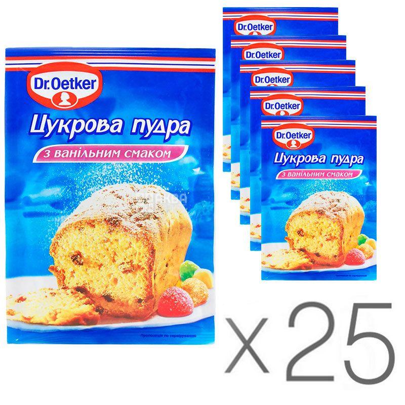 Dr.Oetker, Сахарная пудра с ванильным вкусом, 80 г, упаковка 25 шт.
