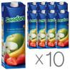 Sandora, Бананово-яблочно-клубничный, Упаковка 10 шт. по 0,95 л, Сандора, Нектар натуральный
