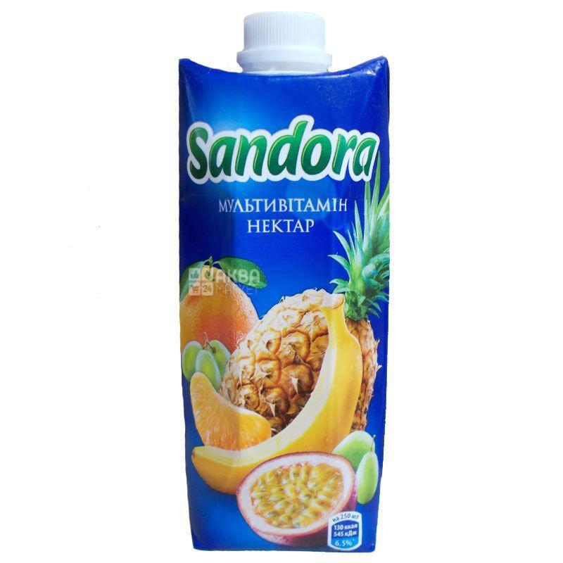 Sandora, Мультивітамін, 0,5 л, Сандора, Нектар натуральний