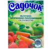 Садочок, Яблоко-морковь-клубника, 200 мл, Сок с мякотью