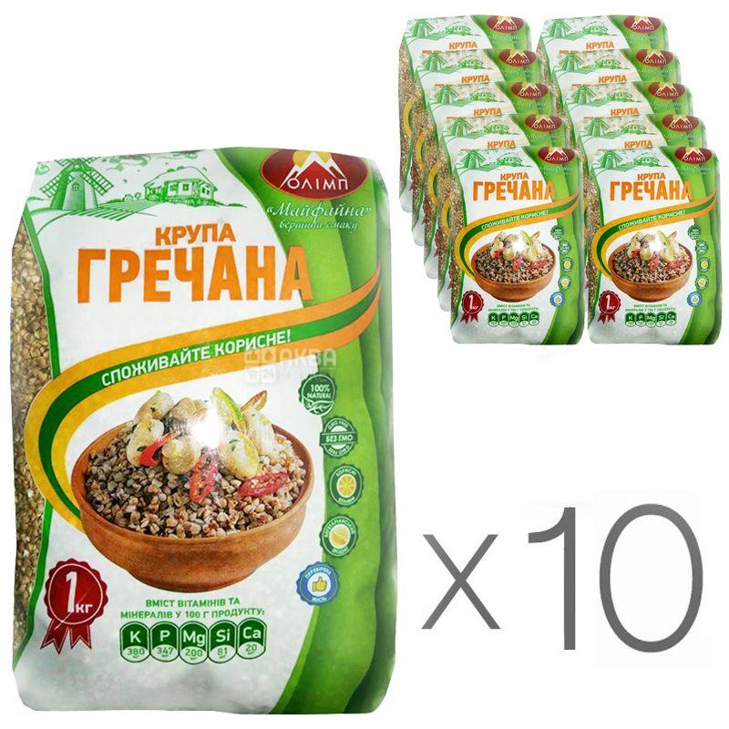 Олимп, Крупа гречневая, жареная, 1 кг, Упаковка 10 шт.
