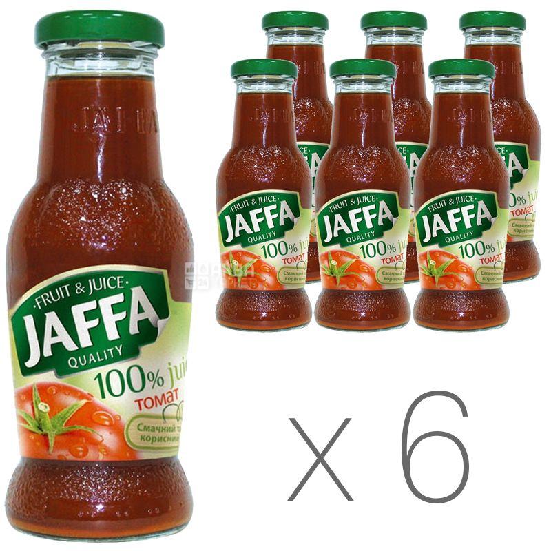 Jaffa, Tomato, 0,25 л, Джаффа, Сок Томатный с солью, стекло, Упаковка 6 шт.