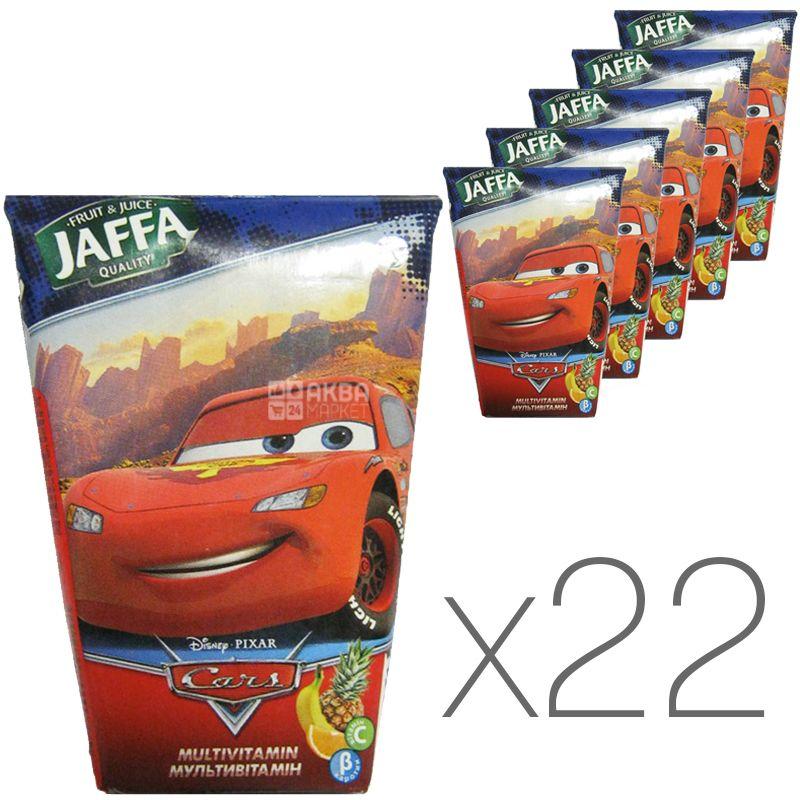 Jaffa, Disney Cars, Мультивитамин, Упаковка 22 шт. по 0,125 л, Джаффа, Дисней Тачки, Нектар натуральный, детям от 3-х лет