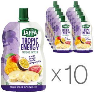 Jaffa, Tropic Energy, Манго-банан-гуава-маракуйя, Упаковка 10 шт. по 120 г, Джаффа, Тропічні фрукти, Смузі натуральний