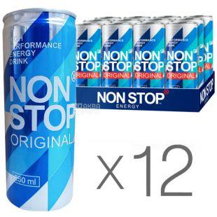 Non Stop, упаковка 12 шт. по 0,25 л, Напиток энергетический Нон Стоп, Арбуз