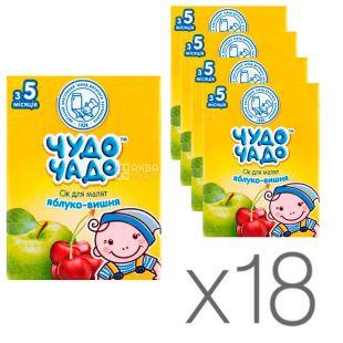 Чудо-чадо, Яблучно-вишневий, 200 мл, Сік для дітей, з 5 місяців, Упаковка 18 шт.